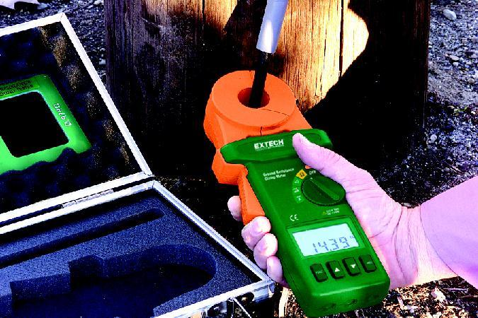 Extech Earth Resistance Tester : Extech clamp on ground resistance tester leda