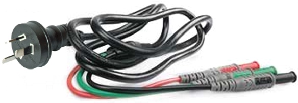 C2033AU: Three wire cable Red, Black, Green with Australian plug